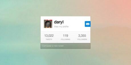 minimal psd twitter widget