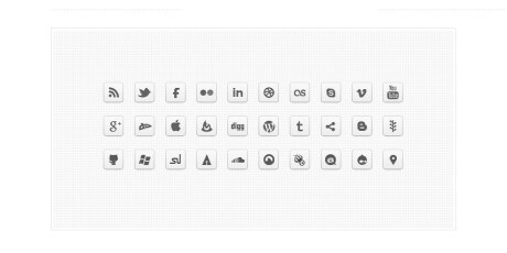monochrome social icons set
