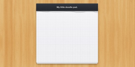 realistic notepad psd