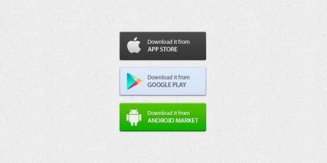 application markets psd buttons