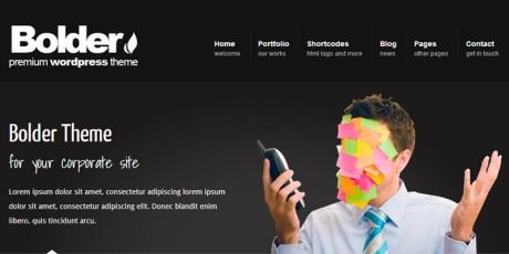 corporate portfolio wordpress theme bolder