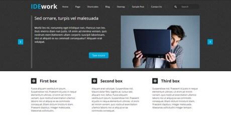 dark company wordpress theme
