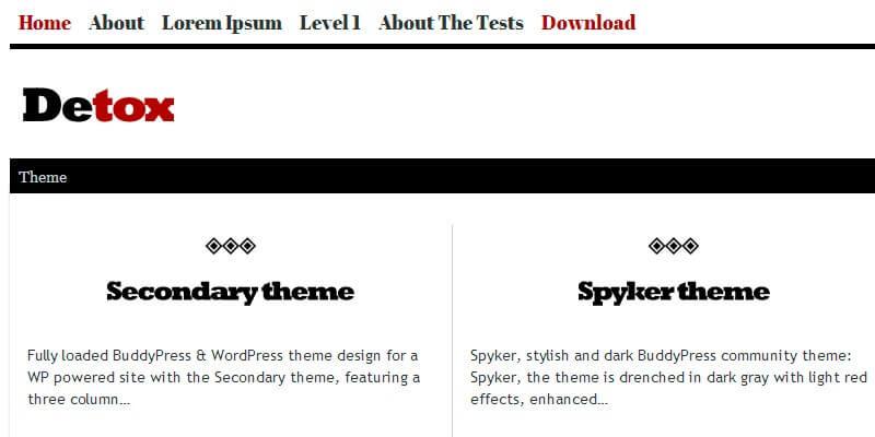 Detox BuddyPress Theme | Bypeople