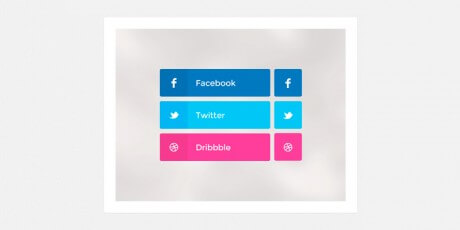flat colorful social psd buttons