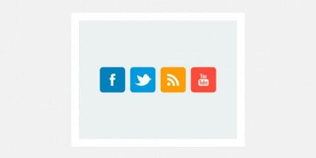 flat social network icons psd