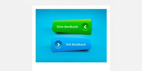 green blue psd buttons