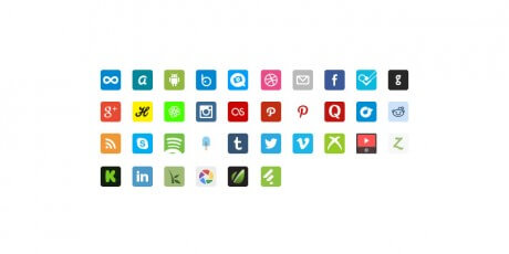 new free social icons psd