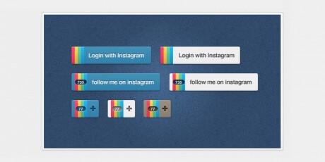 psd instagram buttons