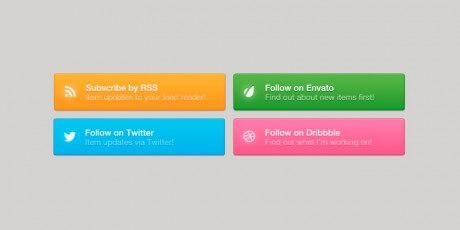 psd social marketplace buttons
