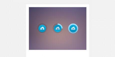 psd upload progress bar button