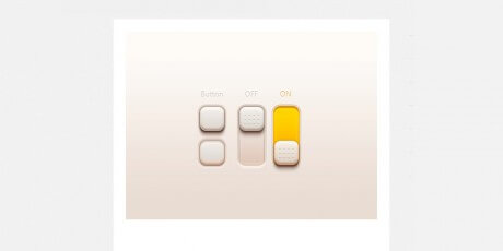 realistic psd buttons switches