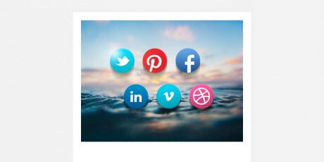 rounded social buttons psd