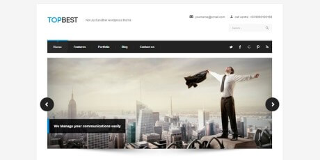 sleek business wordpress theme