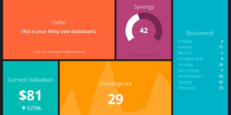Dashing: Dashboard Framework   Bypeople