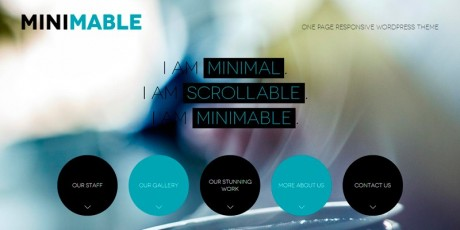 minimable responsive wordpress theme