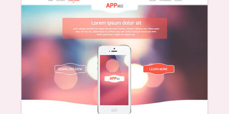 appmo one page app landing page