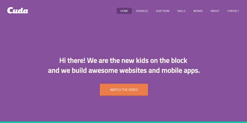 Cuda: Portfolio Flat Web Template | Bypeople