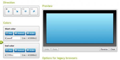 display inline css gradient generator