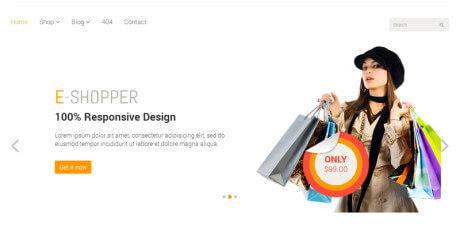 e shopper e commerce html template