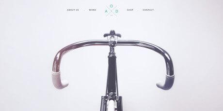 flat bicycle psd web template
