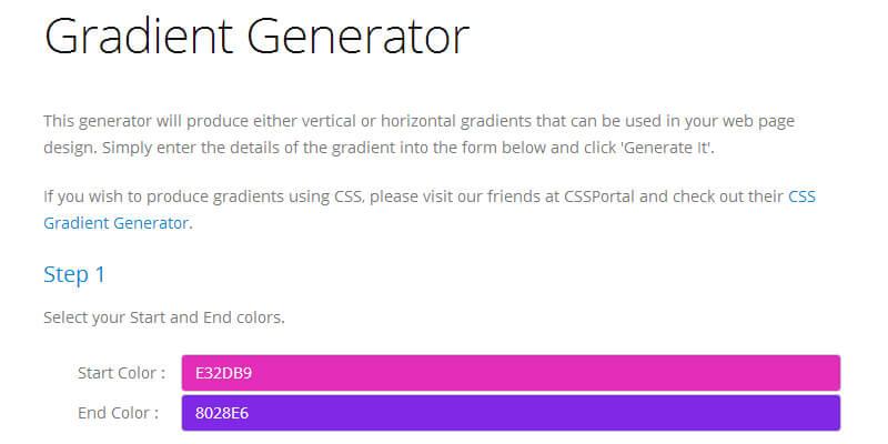 GenerateIt Gradient Generator   Bypeople