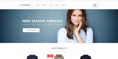 la shoopa free psd ecommerce web template