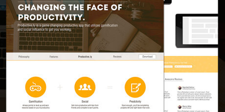productive ly homepage template