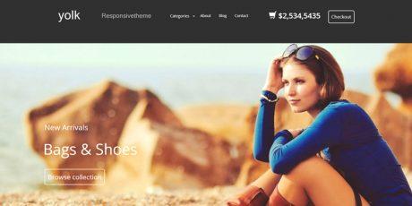 responsive e commerce html template