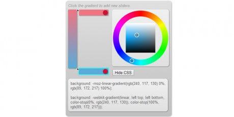 simple visual css gradient editor
