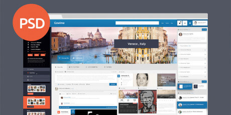 travel network free psd template