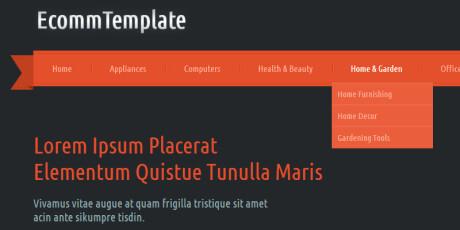 ecomm flat ecommerce bootstrap web template