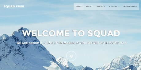 free bootstrap web template