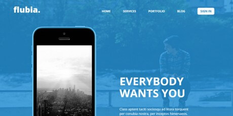 mobile app bootstrap web template