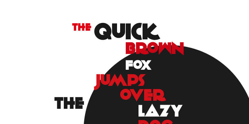 quirky printed focused font
