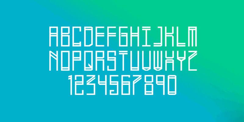 sharp futuristic typeface