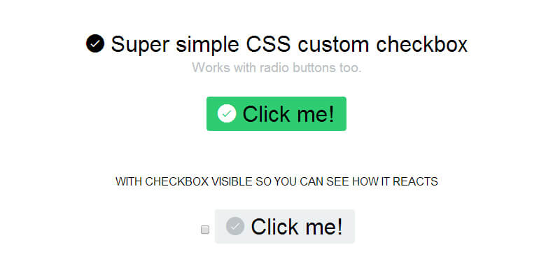 Super Simple CSS Custom Checkbox   Bypeople