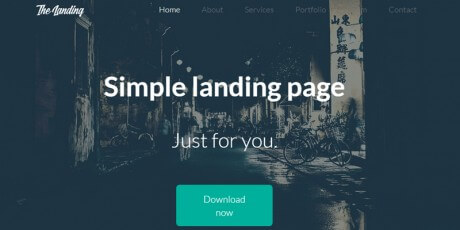 flat bootstrap landing page web template