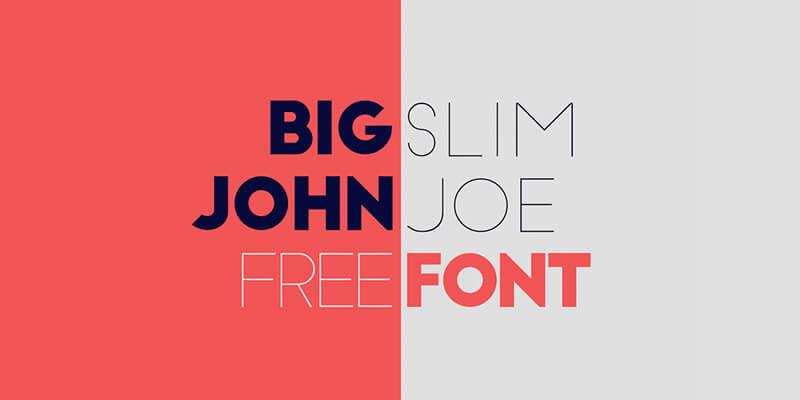 big john slim joe free elegant bold font bypeople