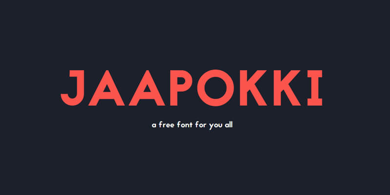 free modern font jaapokki