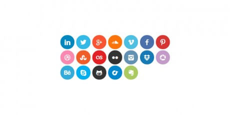 scss social icons