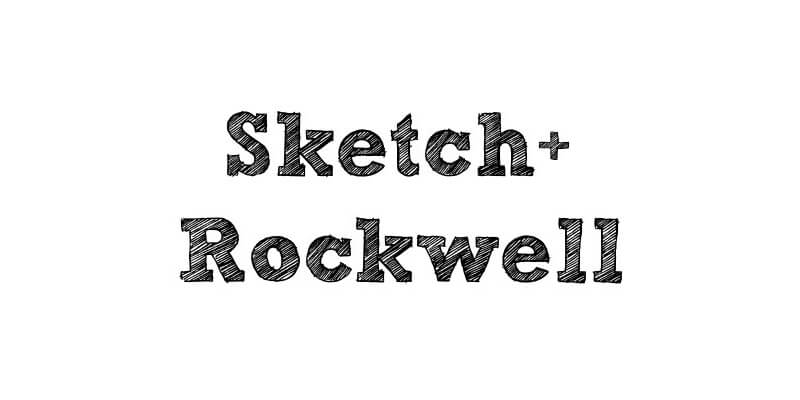 Sketch Rockwell Grunge Font | Bypeople