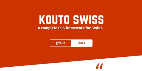stylus css framework kouto swiss