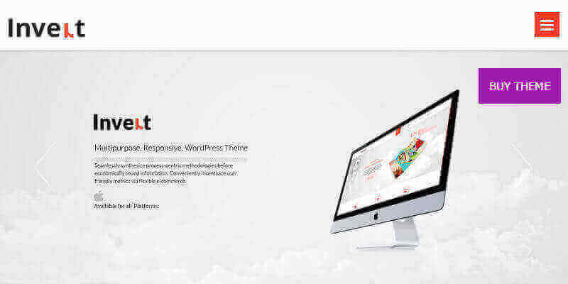 Invert: Clean Responsive WordPress Theme | Bypeople