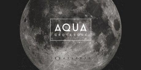 grotesque typeface aqua