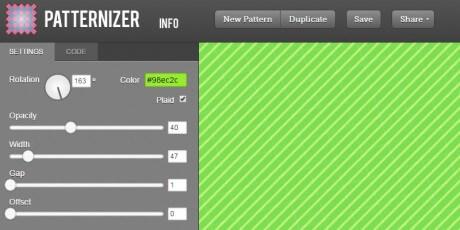 stripe pattern generator tool