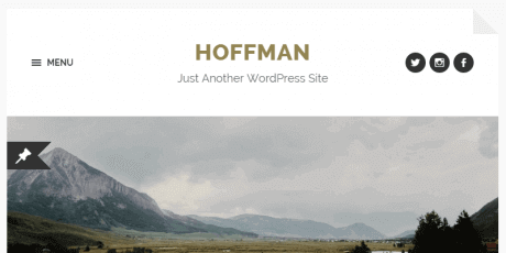 blogging wordpress theme hoffman
