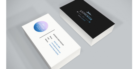 dark light minimal business card mockup