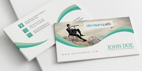 free creative photography business card