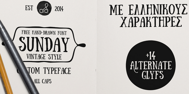 free stylish font sunday