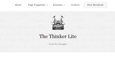 free writers wordpress theme